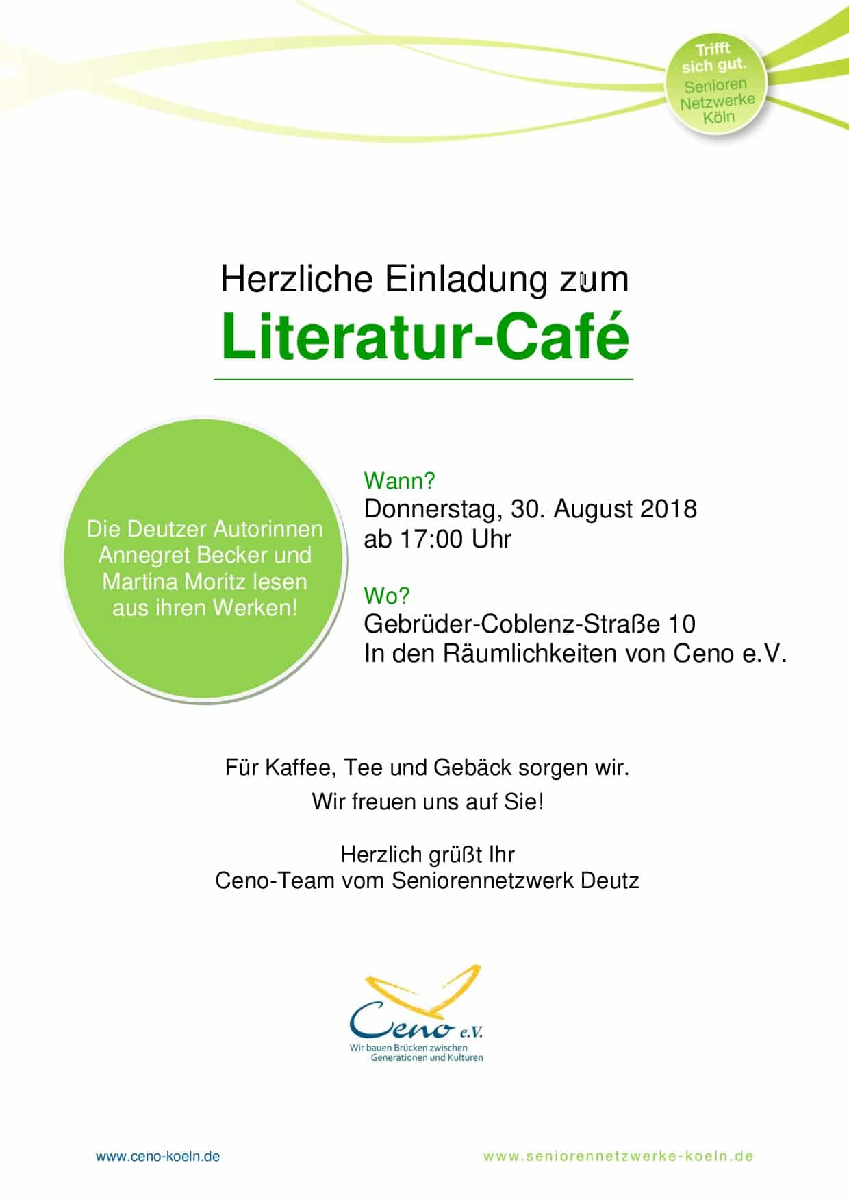 Einladung zum Literatur-Café