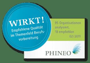 Wirkt Siegel Phineo Berufsvorbereitung