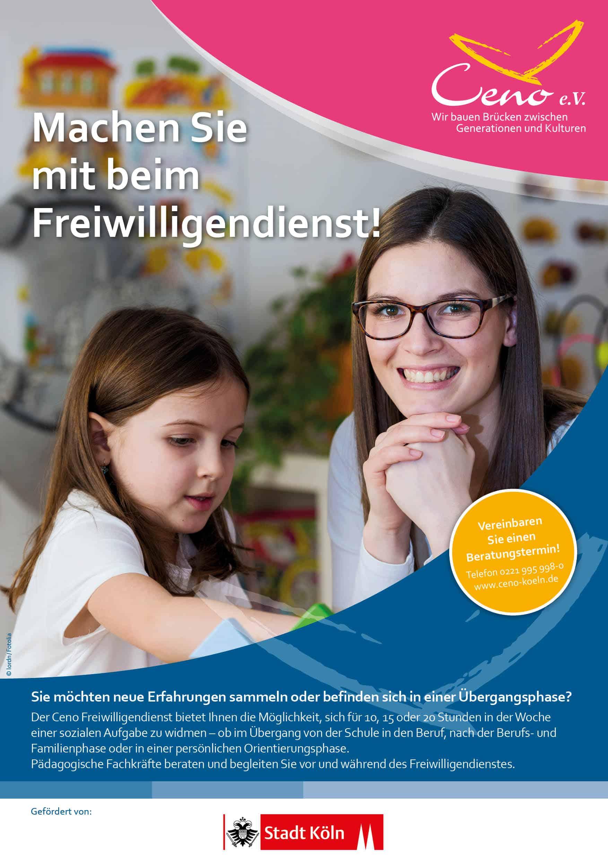 Plakat Freiwilligendienst Bild