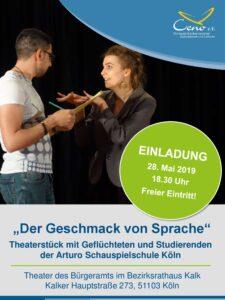 """Einladung zur Theateraufführung """"Der Geschmack von Sprache"""""""